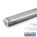 4Ft Twin Waterproof Fitting - with 2 LED Tubes