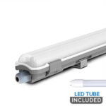 5Ft Single Waterproof Fitting – with LED Tube