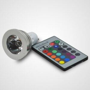3W RGB E27 LED Spotlight+Controller